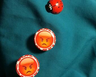 Badge Type EMOJI Angry Emotion Clog Shoe Charms