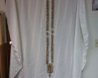 Rosary (Large) #2 hand carved and made from bone in mid-1900s