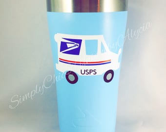 Mailman decal, mail lady decal, gift for mailman, mail truck, mail carrier, USPS worker, postal worker, YETI decal, tumbler decal, USPS gift
