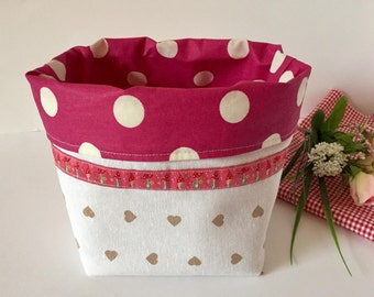 Bread basket bread basket fabric basket accessories gift for you pink