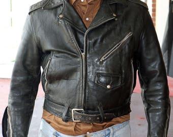1950's Leather motorcycle jacket - Size 42