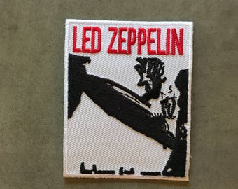 """Led Zeppelin logo iron on embroidered patch (approx 2.5"""" x 3"""")"""