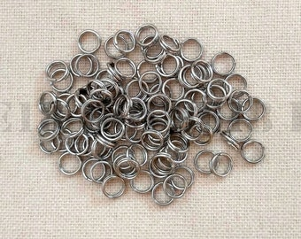 6mm Stainless Steel Split Ring Bulk Split Ring Double Loop Jump Ring 500 PCS / 1000 PCS Jewelry Making Supplies