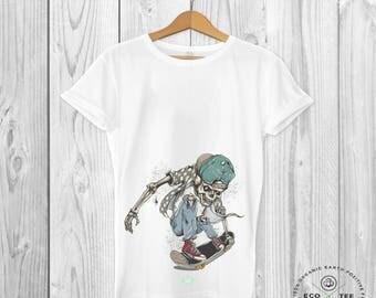 Skate T-shirt - Skateboarding Tshirt - Death wish tee - Fashion top - Fairtrade tshirt - Organic top - Graphic tees - Urban Streetwear
