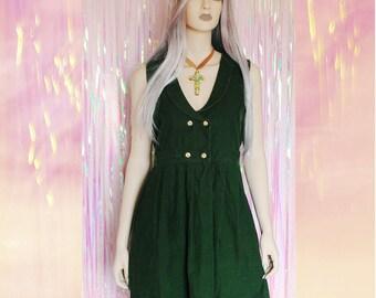 90s Corduroy Jumper Dress, grunge babydoll dress, 90s dress, 90s grunge 90s clothing, 90s grunge dress, 90s jumper dress