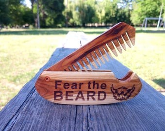 Mens gift for boyfriend Husband gift for brother Best friend gift Beard care Grandpa gift Beard grooming Wooden beard comb Moustache comb