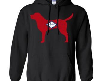 Labador Retriever Hoodie, Labador Retriever Hoodie, Arkansas State Flag Hoodie, Labador Retriever Sweatshirt, Retriever Hooded Shirt