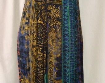 Like New 1970's Vintage Woman's SAINT TROPEZ WEST Sleeveless Boho Tribal Dress Sz 10