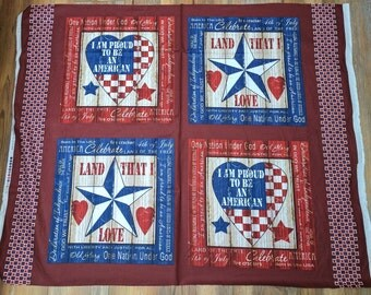 American Pride Cotton Fabric Panel from Fabri Quilt