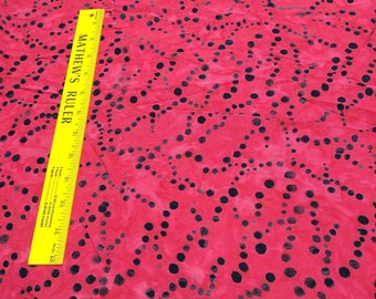 Pollen Red Rayon Fabric from Cantik Batiks