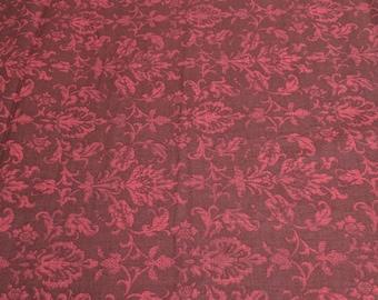 Abundance-Maroon Cotton Fabric from P&B Textiles