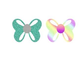 Beautiful Glitter Bow Die Cuts