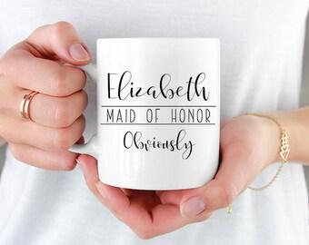 Maid Of Honor Mug, Maid Of Honor Gift, Wedding Party, Wedding Party Gift, Wedding Party Announcement, Bridal Party, Bridal Party Gifts, Mug