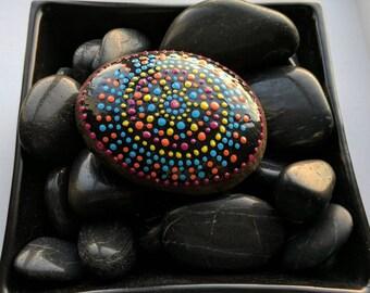 Meditation Rocks, Painted Beach Rocks, Hand Painted Beach Stones, Beach Art