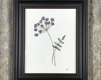 Calm- purple flower,Wall Art, home decor, wedding gift,