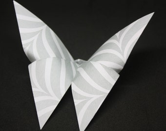 12 Origami Butterflies Silver