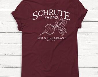 Schrute Farms TSHIRT - The Office Tshirt - Dwight Schrute - Sweater - Bears Beets Battlestar Galactica - Michael Scott - Jim Halpert
