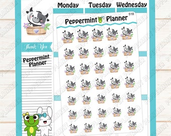 Cute little Cow Planner Stickers --- 518