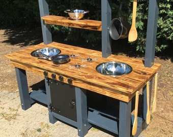Mud Kitchen Frame Made From Pressure Treated Timber Comes in blue and grey