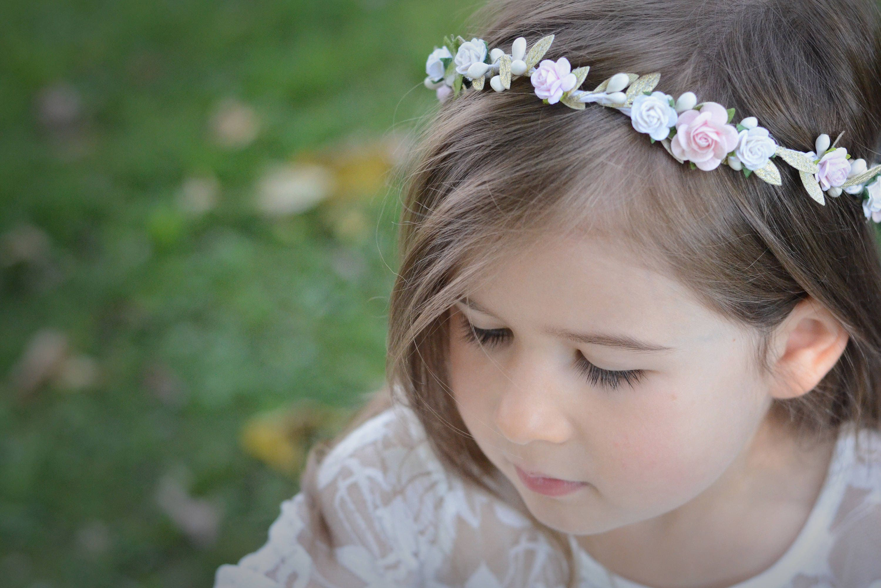 Blush Flower Crown Flower Crown Floral Halo Floral Crownbaby