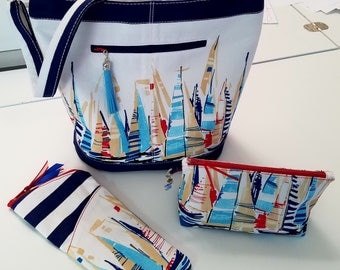 BagAVaughan-Summer 2017 Slouchy bag with Sun glasses case and Zipper Pouch