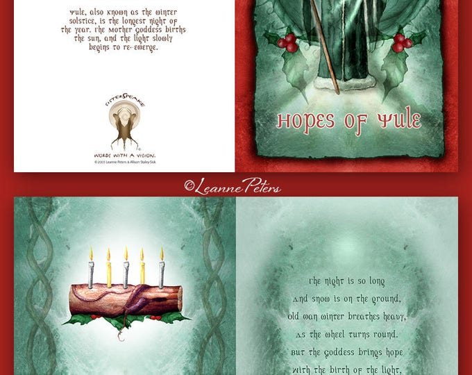Featured listing image: Yule - High Holiday - Sabbat Card