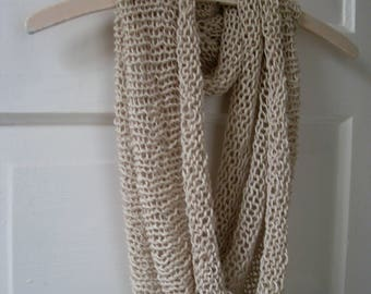 Sand knitted cowl