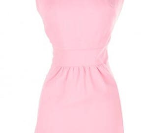 1970s Vintage Pink Sleeveless Mini Dress