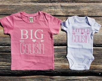 Big Cousin Shirts, Little Cousin Shirts, Cousin shirt sets