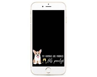 Dog Wedding Snapchat Filter - Corgi Snapchat Filter- Custom Pet Filter - Dog Wedding Geofilter - Corgi - Gold Wedding Filter - Custom Filter