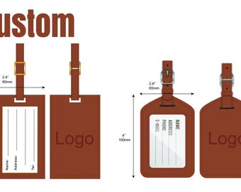Custom leather luggage tags, personalized leather luggage tags, leather luggage labels