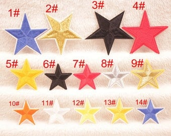 embroidered star patches, star patches iron on, star patches for jeans