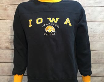 University of Iowa Hawkeyes Crewneck Sweatshirt by Lee Sport