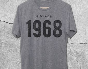 50th Birthday Gift For Women & Men - 50th Birthday Shirt - Vintage 1968 T-Shirt - 50th Birthday Graphic Tee -50th Birthday Gift ideas - Tees
