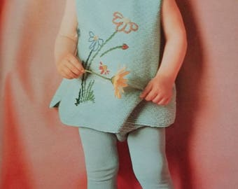 1967 Columbia Minerva 766 Beautiful Baby Book Infants to 4 Years Original Knitting Pattern Book Not a PDF