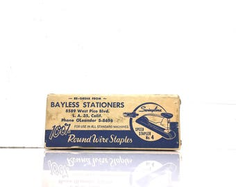 Vintage Swingline 5000 no. 3p speed stapler, Bayless Stationers, Staples Original Case -Retro Desktop, Hipster Gift