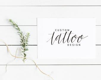 Custom Hand Lettered Tattoo Design // Modern Calligraphy Tattoo