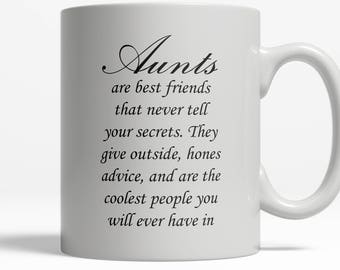 Aunt gift   Aunts are Bestfriends mug   Gift for Aunt    Sister Gift   Pregnancy Reveal   New Baby   Auntie  Ceramic Mug 11oz 15oz  D4