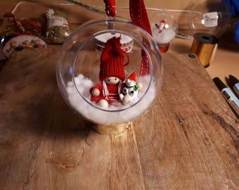 Transparent Christmas ball (handmade)