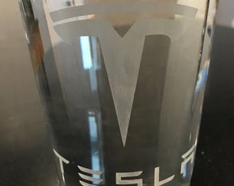 Tesla Beer Glass