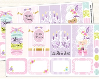 Marie Antoinette Stickers Marie Antoinette Planner Macaron Planner Kit Macaron Stickers Macaroon Planner Pretty Is As Pretty Does ECLP More