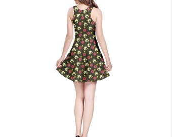 Junkrat Dress - Skater Dress Overwatch Dress Jamison Fawkes Dress Plus Size Dress Video Game Dress Demolitionist Dress Junkers Dress