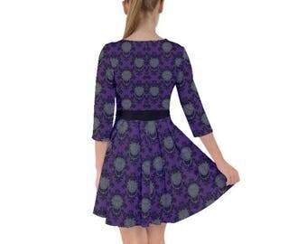 Labyrinth Dress - Door Knocker Damask Dress Door Knocker Smock Dress Comicon Dress Geeky Dress Plus Size Dress Goblin King Dress