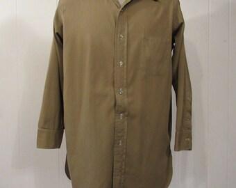Vintage shirt, 1920s shirt, work shirt, wool shirt, cotton shirt, J.L. Hudson, vintage clothing, medium