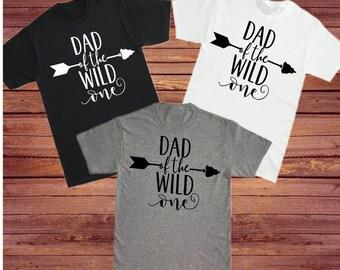Dad of the Wild One T-Shirt- Wild One Birthday- Family of the Wild One Tee's- Daddy- of the Wild One