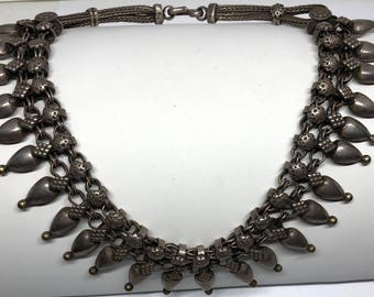 Vintage Silver Persian Statement Necklace