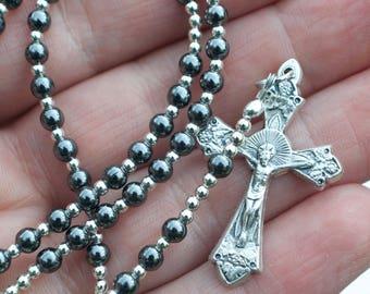 Baby Combat Wire Rosary / St. Benedict
