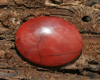 Red Brecciated Jasper Oval 39 x 30 Cabochon (1)