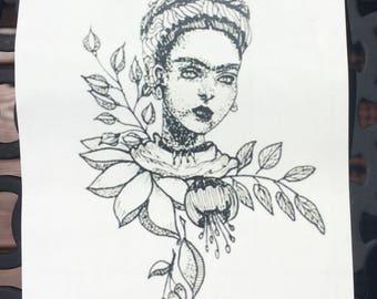 Frida Kahlo Iron on Decal