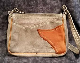 Reclaimed Leather Purse/ Hand Sewn Leather Purse/ Leather Purse